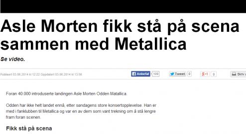 2014-0604-084041-Asle Morten fikk stå på scena sammen med Metallica _ OA